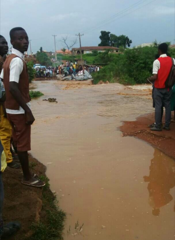 Flood halts residents movement in Ibadan after downpour