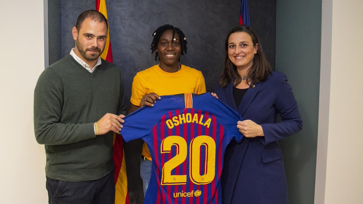 Breaking News! Barcelona confirm Super Falcons' Asisat Oshoala signing