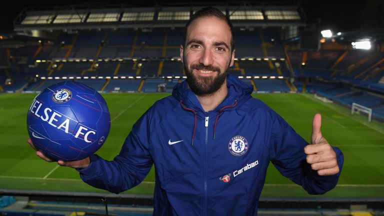 Gonzalo Higuain completes loan transfer to Chelsea