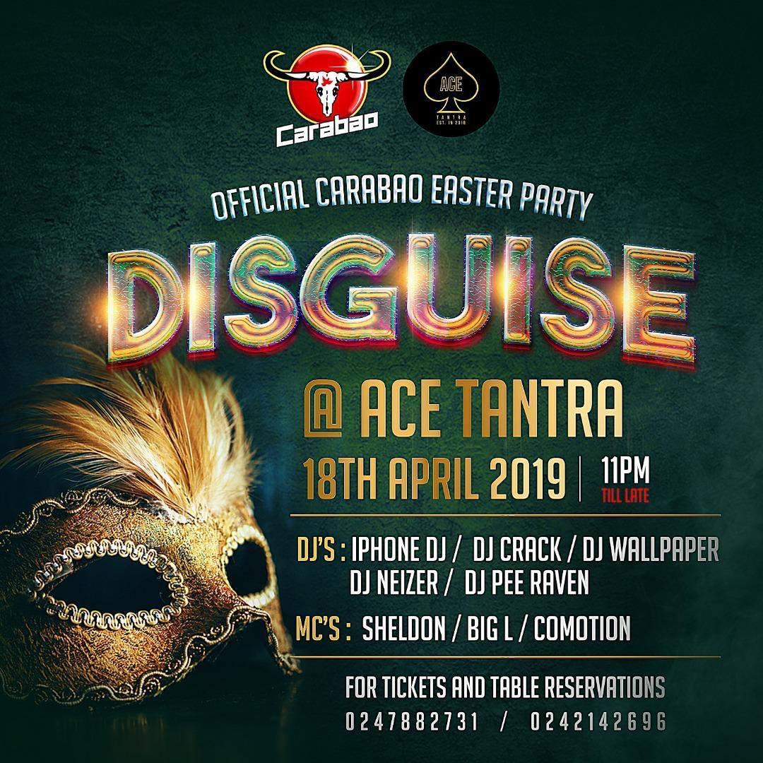 """Carabao Easter Party, """"Disguise"""", to shake Accra"""