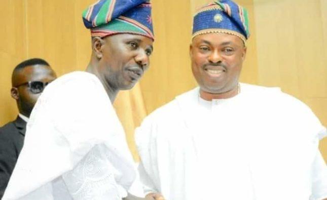 Hon. Halil Adebayo felicitates with Osun Speaker, Timothy Owoeye on birthday